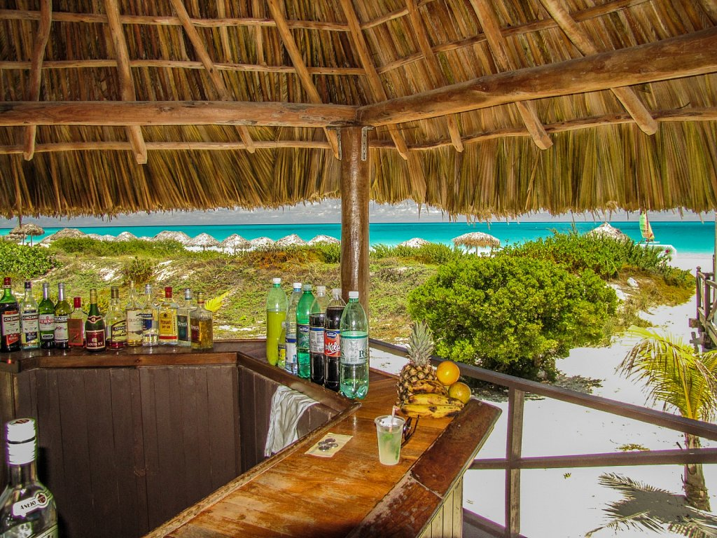 At the beachbar
